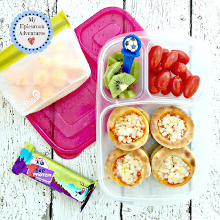 Lunch box ideas, school lunch ideas, lunches, mini pizzas
