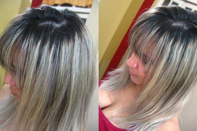 cabelos loiros acinzentados efeito prata 9.1 Amend