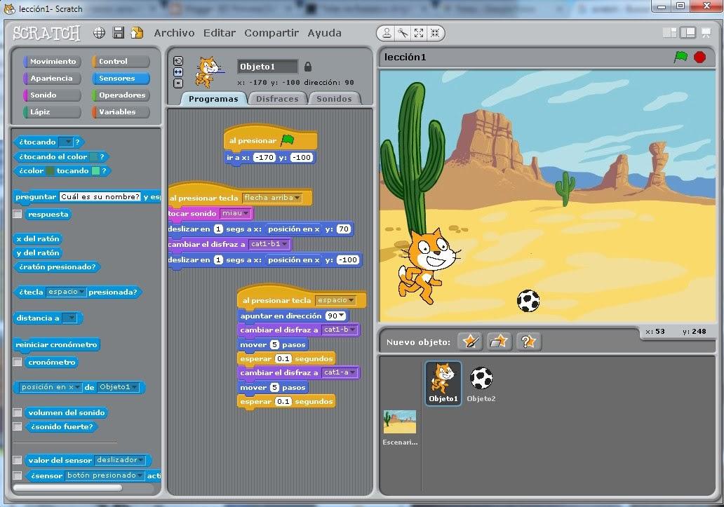Taller de Scratch (aprendiendo a programar juegos)