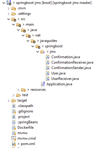 Spring Boot JMS ActiveMQ Messaging Example