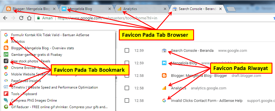 cara mengganti favoicon blog di blogspot