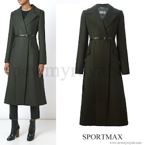 Kate Middleton wore SPORTMAX Long Belted Coat