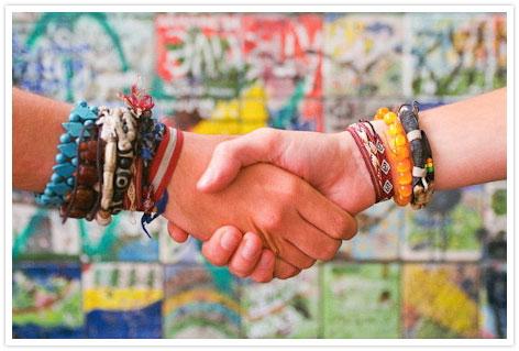 Greetings and handshake