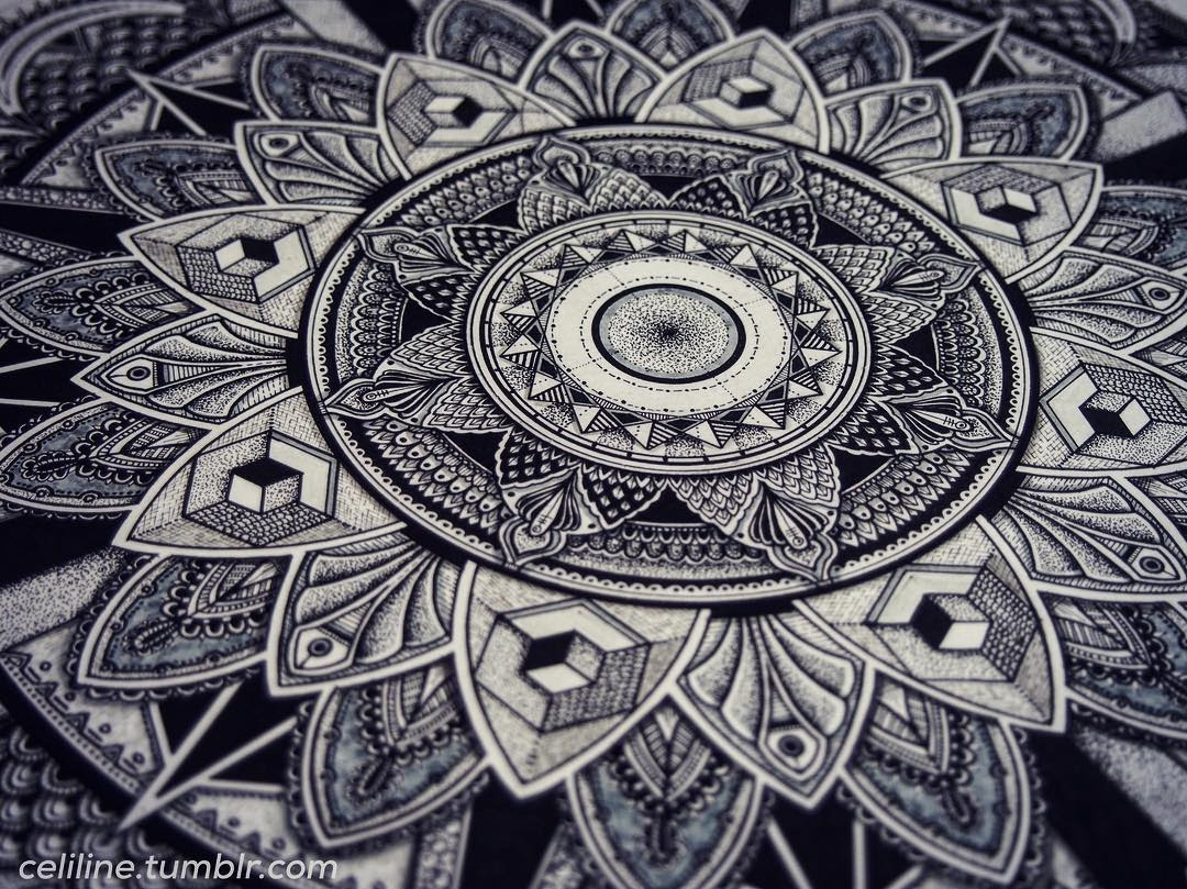 03-Celine-Silence-Lines-Art-Mandalas-Zentangles-and-Stippling-Drawings-www-designstack-co
