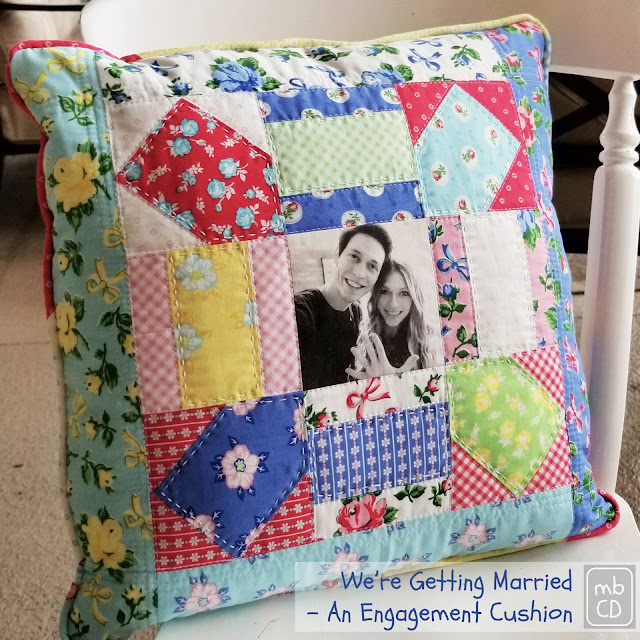 An Engagement Cushion by www.madebyChrissieD.com
