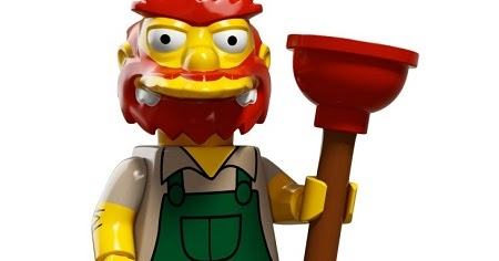 lego mini figures Grounds Keeper Willie Simpsons Series 2