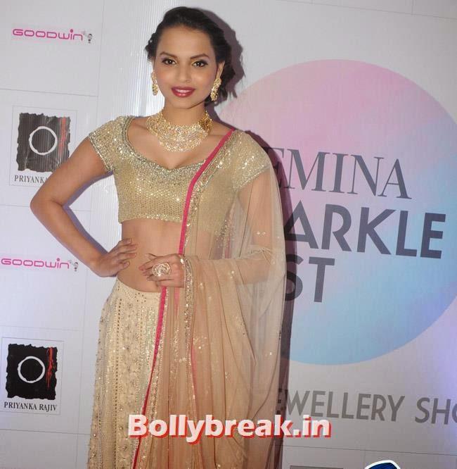 Gail Da Silva, Yuvika Choudhary at Femina Sparkle Fest 2014 Fashion Show