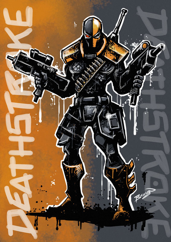 How To Draw Deathstroke From Injustice Oz Comics Drawing Challenge