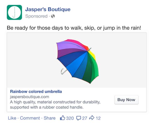 Hình thức quảng cáo Facebook Dynamic Products