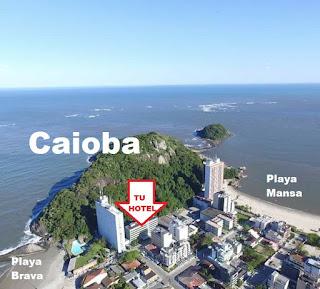 CAIOBA PRAIA HOTEL a 30 mts de  playa BRAVA y 100 mts de playa MANSA