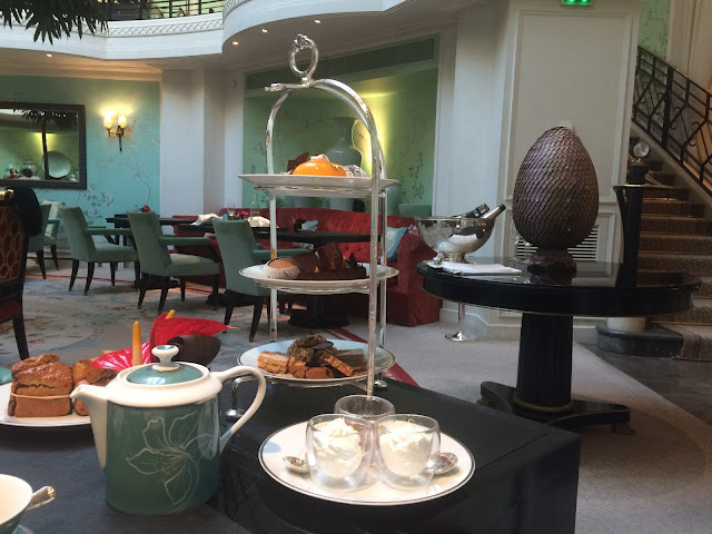 Tea time at La Bauhinia, Shangri-La Hotel Paris