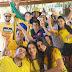 Festa da torcida no jogo Brasil x Sérvia