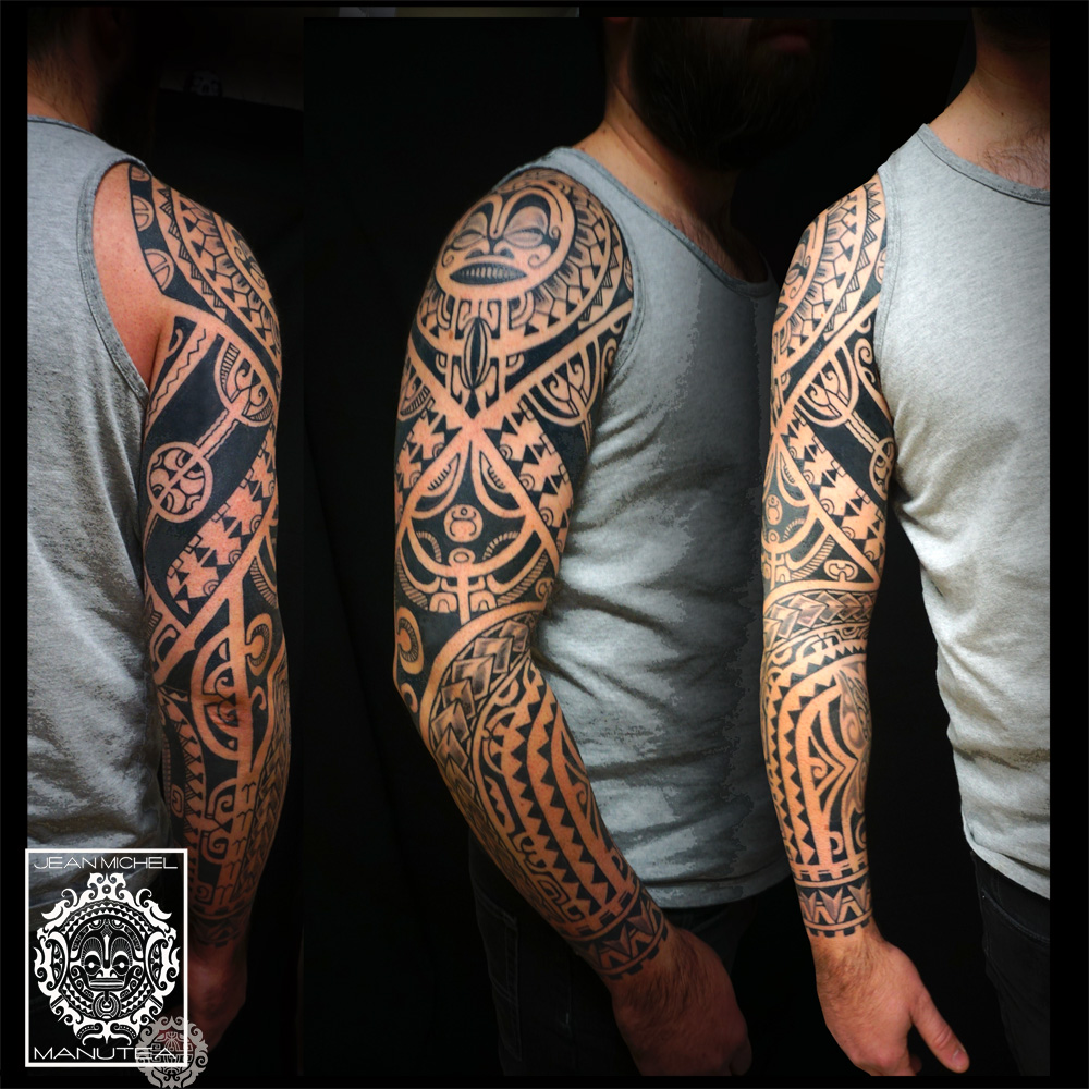 Maori Tattoo Sleeve: Tatouage Polynesien-polynesian Tattoo: January 2016