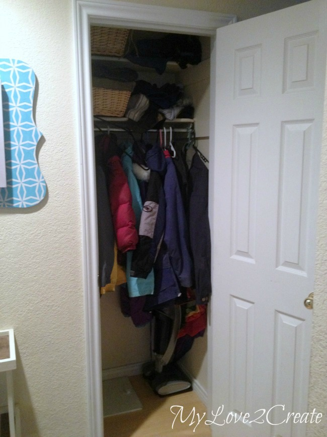 Mylove2create Hall Closet Makeover Before