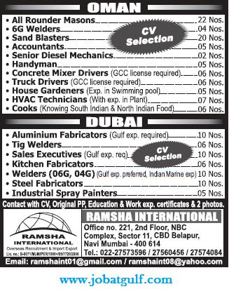 REQUIRED ALUMINIUM FABRICATOR IN UAE - job at gulf