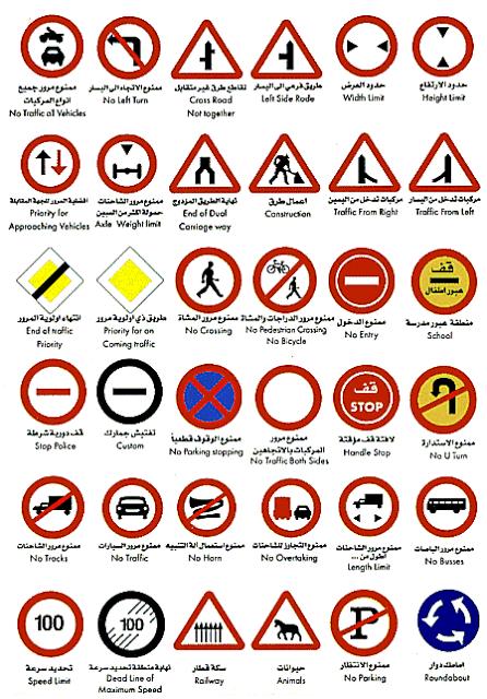 تعليم إشارات المرور والخطوط الأرضية لإختبار قيادة السيارات النظرى،سنتناول في هذا الموضوع شرح إشارات المرور بالصور،اشارات المرور pdf ، ومن المعروف أن إشارات المرو تتشابه في أغلب دول العالم مع بعض الإختلافات البسيطة،حيث سنتناول تعليم إشارات المرور والعلامات على الطريق ومدلول الخطوط الأرضية ومعنى الخطوط الأرضية وكل ما يلزم لاجتياز إختبار الكمبيوتر للقيادة  وهو ما يطلق عليه إمتحان المرور النظرى وهو خطوة أساسية لتعليم  قيادة السيارات ، كذلك فيديو قصير لتعليم اشارات المرور بسهولة ويسر,مدلول الخطوط الأرضية ,معنى الخطوط الأرضية ,تعليم  قيادة السيارات ,سواقة السيارات ,إختبار الكمبيوتر للقيادة ,إمتحان المرور النظرى, سياقة السيارات ,إشارات المرور ,الخطوط الأرضية,شرح إشارات المرور بالصور , تعليم إشارات المرور والعلامات على الطريق,ارشادات المرور,اشارات المرور, إشارات المرور,تعليم اشارات المرور,علامات المرور,اشارات المرور في مصر,اشارات المرور امتحان,اشارات السير,اختبار اشارات المرور,تعليم اشارات المرور للأطفال,إشارات المرور الضوئية
