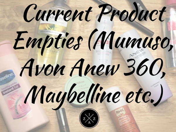 Current Product Empties (Mumuso, Avon Anew 360, Maybelline etc.)