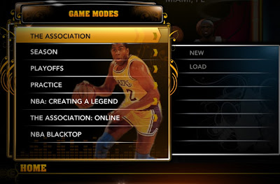 NBA 2K13 All-time Legends Home Menu Mod