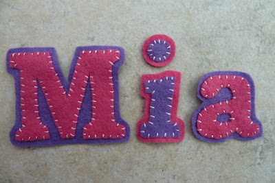 Letters cut from felt