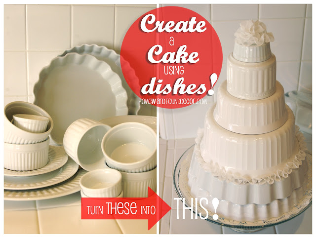 repurposing white dishes