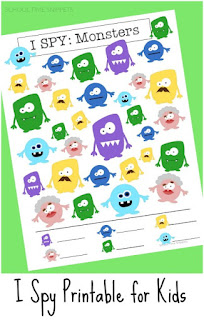 i spy printable game monsters