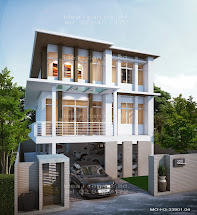Three-Story Modern House Plans