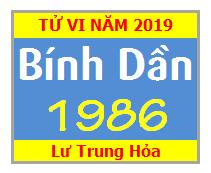 Tử Vi Tuổi Bính Dần 1986 Năm 2019 Nam Mạng - Nữ Mạng