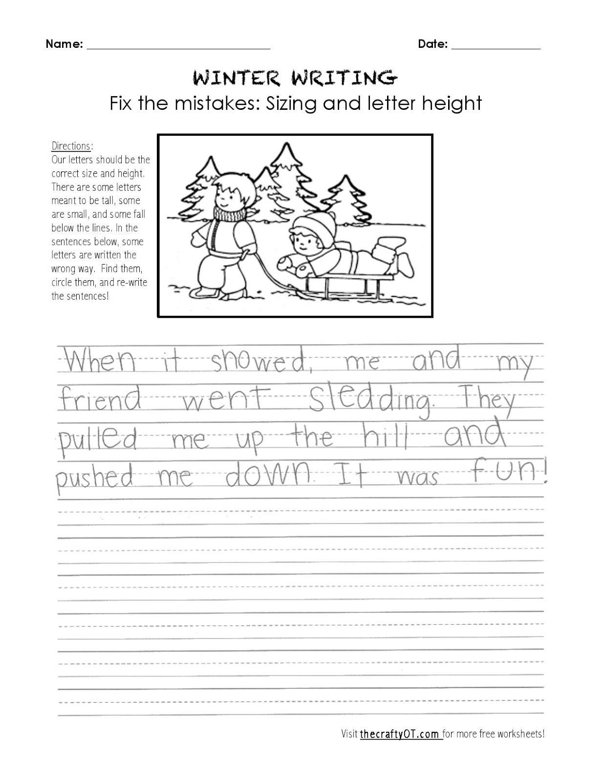 The Crafty Ot Winter Writing Fix The Mistakes