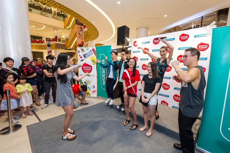 Watsons Celebrity Friends stage activity with lucky members.