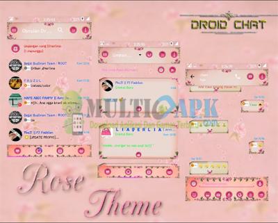 BBM Mod Rose Theme Pink Terbaru Versi 2.13.1.14 Apk