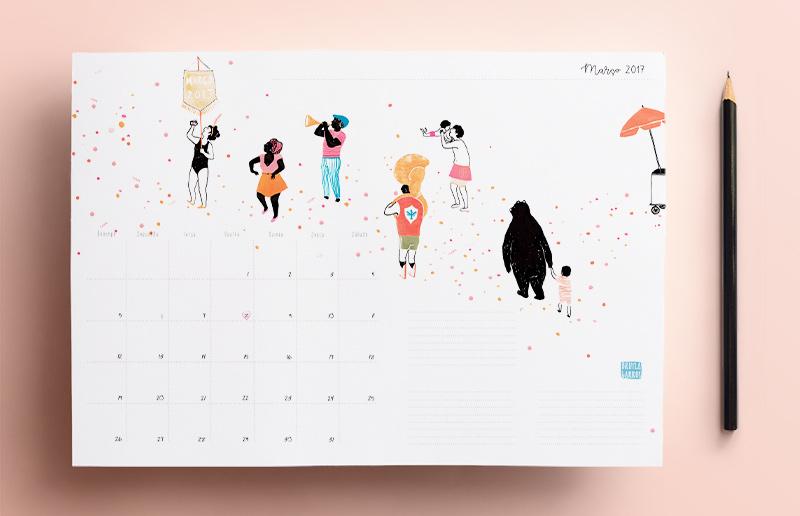 Calendário de março 2017 impressão gratuita