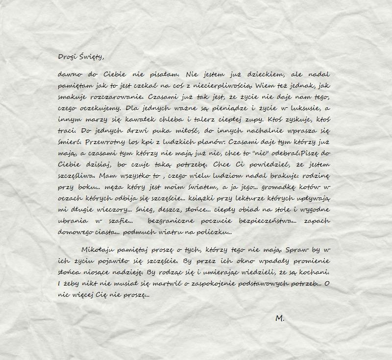 List do św. Mikołaja [Blogmas 2016]