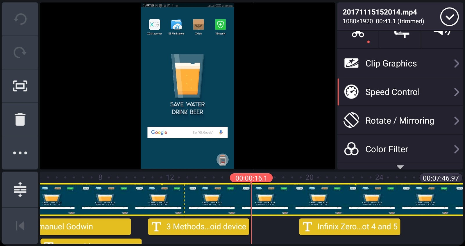 Kinesmaster video editor interface 02