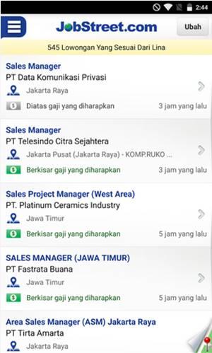 Aplikasi android pencari lowongan pekerjaan terbaru
