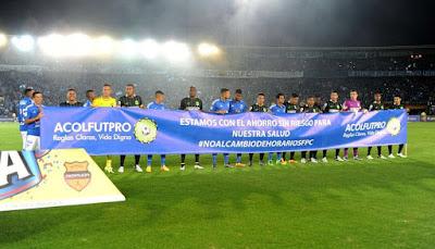 Protesta de jugadores - Millonarios vs. Atlético Nacional