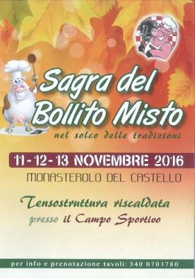 Sagra del bollito 11-12-13 novembre Monasterolo del Castello (BG)