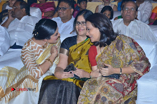 Actress Vimala Raman Stills in White Silk Saree at Om Namo Venkatesaya Audio Launch Event  0010.JPG