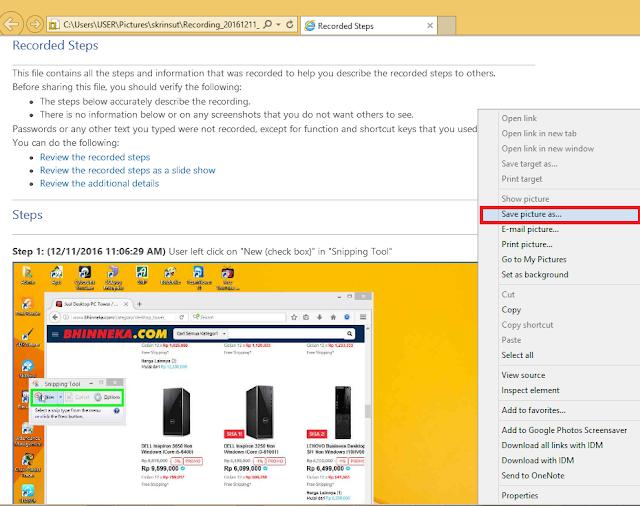 Cara Cepat Screenshot dengan Steps Recorder