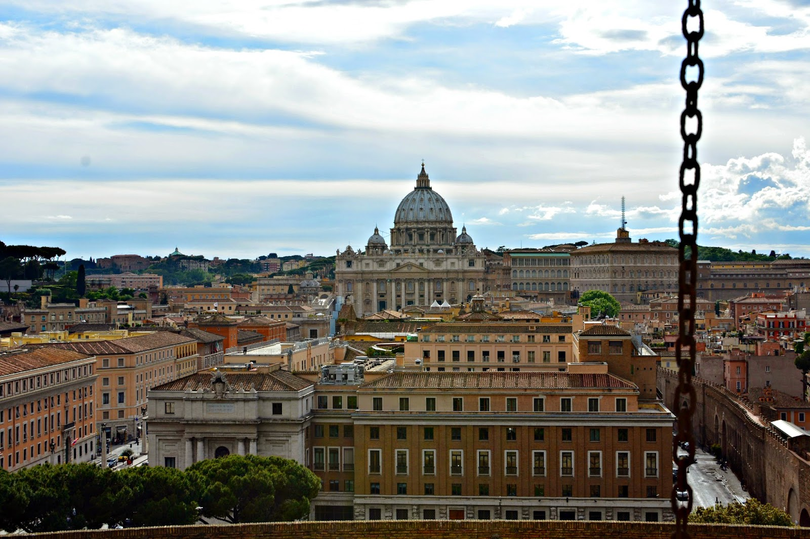 View of St Peter's Basilica from Castel Sant'Angelo