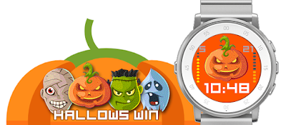 Hallowswin Halloween watchface for Pebble Time Round