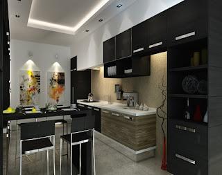 cocina color negro