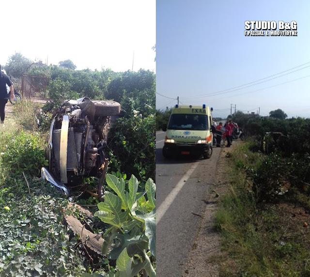 Τροχαίο ατύχημα στο Πανόραμα του Δήμου Άργους Μυκηνών