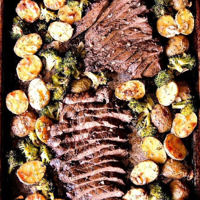 Wednesday - Sheet Pan Steak, Potatoes, and Broccoli
