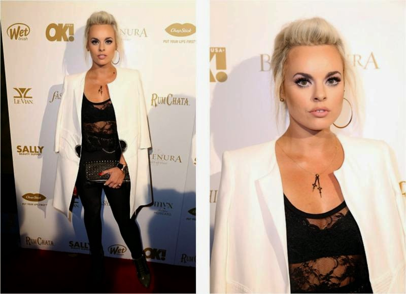 Katy Tiz OK Magazine Grammy Party in LA
