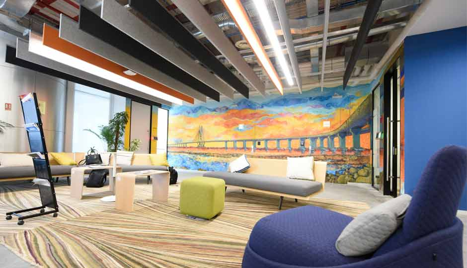 Take a closer look of facebook s new office in mumbai for Interior design facebook pages
