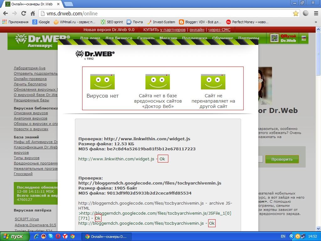 Vms.drweb.com-российский производитель антивирусных средств защиты-Защита блога позволит противостоять любым угрозам