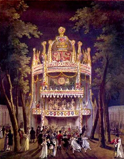Vauxhall Gardens, from The Microcosm of London (1808-10)
