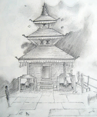 Sketch of Maula Kalika Temple