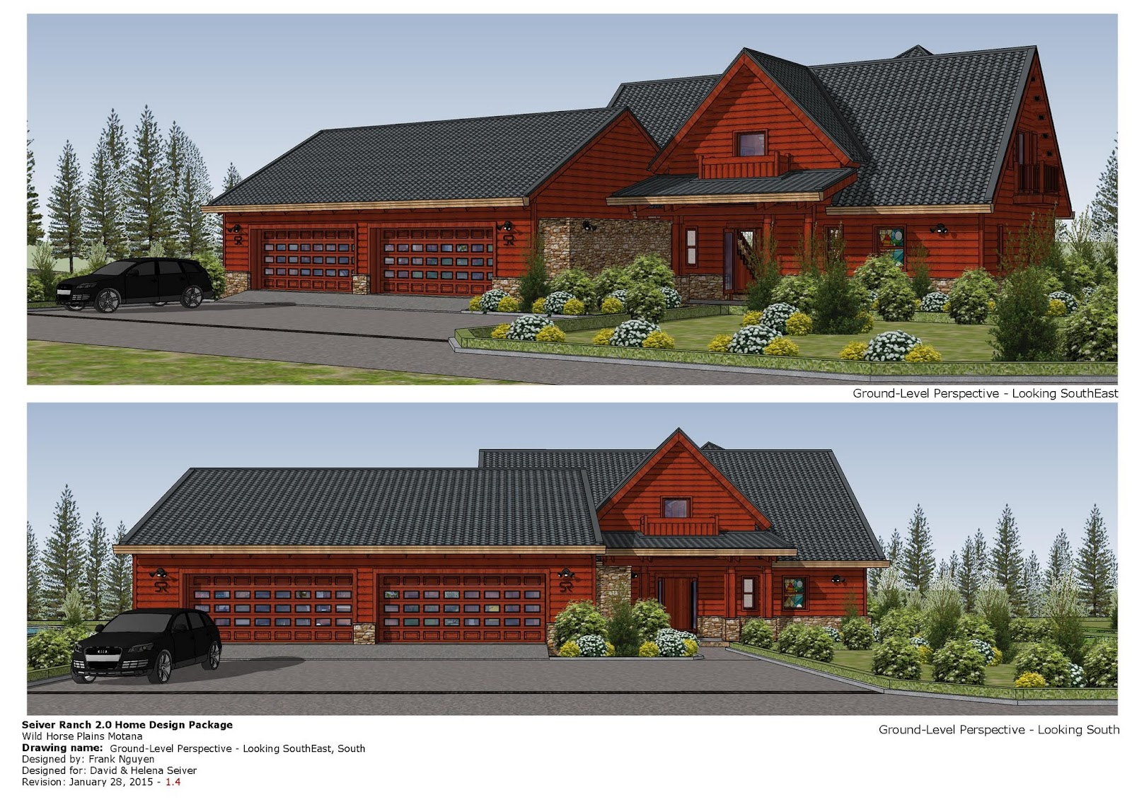 Home garden plans lh100 log house plans log house for Montana style house plans