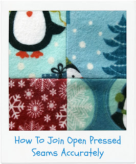 How To Join Open Pressed Seams Accurately by www.madebyChrissieD.com